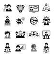 Business Meeting Icons Black vector image vector image