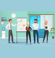 business people group presentation in office vector image vector image