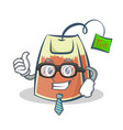 businessman tea bag character cartoon art vector image vector image
