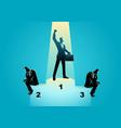 businessmen on podium vector image vector image