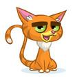 cartoon of cartoon ginger cat vector image vector image