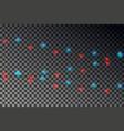 christmas light string realistic garland vector image