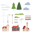 collection of urban landscape constructor design vector image vector image