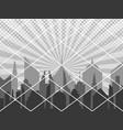 comic cover monochrome cityscape concept vector image vector image