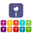 Construction trowel icons set
