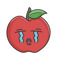 Crying red apple cartoon apple