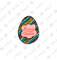 design template invitation card for easter vector image vector image