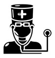 doctor icon simple black style vector image