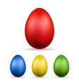 easter egg 3d icons red color eggs set isolated vector image