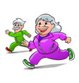 elderly athletes vector image