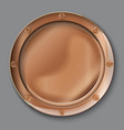 empty copper plate vector image vector image