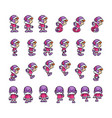 eskimo girl game sprites vector image vector image