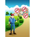 exterminator service poster vector image