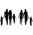 families silhouettes vector image vector image