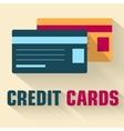 flat credit cards icon concept design vector image