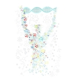 Form Man with Human DNA Concept Scientific vector image vector image