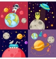 Four Space Icon Set vector image vector image