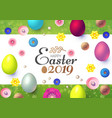 happy easter design template with realistic vector image vector image