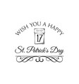 happy st patrick s day holiday calendar vector image vector image