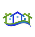 home real estate business logo vector image