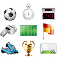 icons football vector image vector image