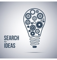 idea search symbol Light bulb with cogwheels vector image