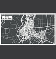 jhang pakistan city map in retro style outline map vector image vector image