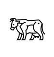 Linear stylized drawing of cow