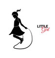little child baby little girl jumping rope vector image vector image