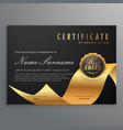 luxury certificate of diploma with golden ribbon vector image vector image