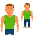 Man in green singlet Cartoon Character vector image vector image