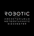 minimal style font vector image vector image