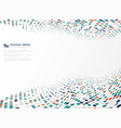 modern technology circle colors pattern vector image
