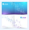 modern templates for square cover brochure vector image vector image