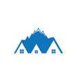 mountain home logo image vector image