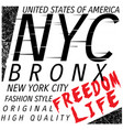new york city bronx grunge background typography vector image vector image