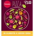Pizza shop design vector image
