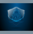 protected guard shield security concept security vector image vector image