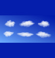 realistic white cloud sky sky bright vector image