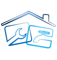 Repair plumbing in the house vector image vector image