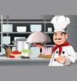 restaurant chef vector image