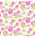 Rose flowers pink and green floral dark pattern