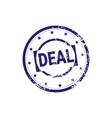 safe deal stamp blue grunge sticker or badge icon vector image vector image