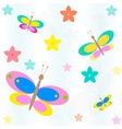 seamless background with flowers and butterflies vector image vector image