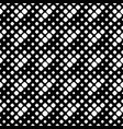 seamless black and white rounded diagonal square vector image vector image