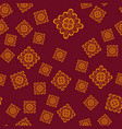 seamless geometric pattern with ornamental brown vector image vector image