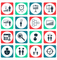 set of 16 board icons includes approved target
