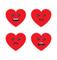 set of heart emoticons love emojis vector image