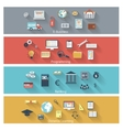Set of modern concepts in flat design vector image vector image
