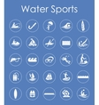 Set of water sports simple icons vector image vector image